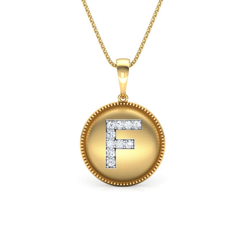 Alphabet F Pendant