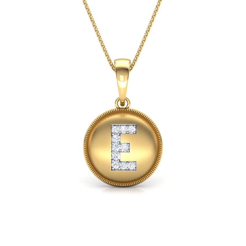 Alphabet E Pendant