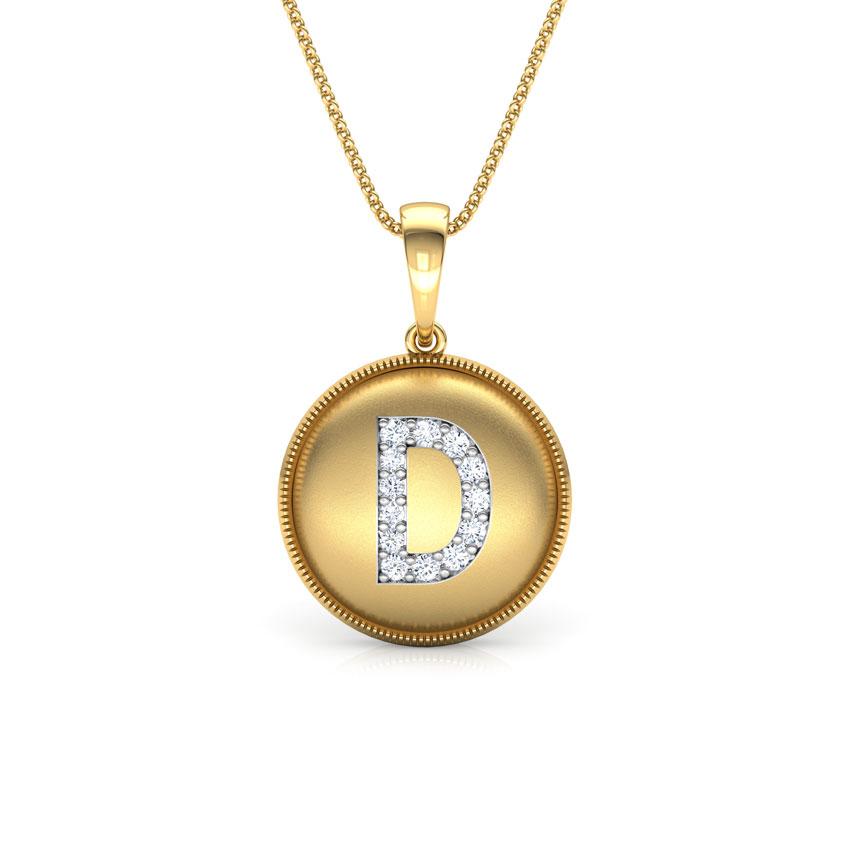 Alphabet D Pendant