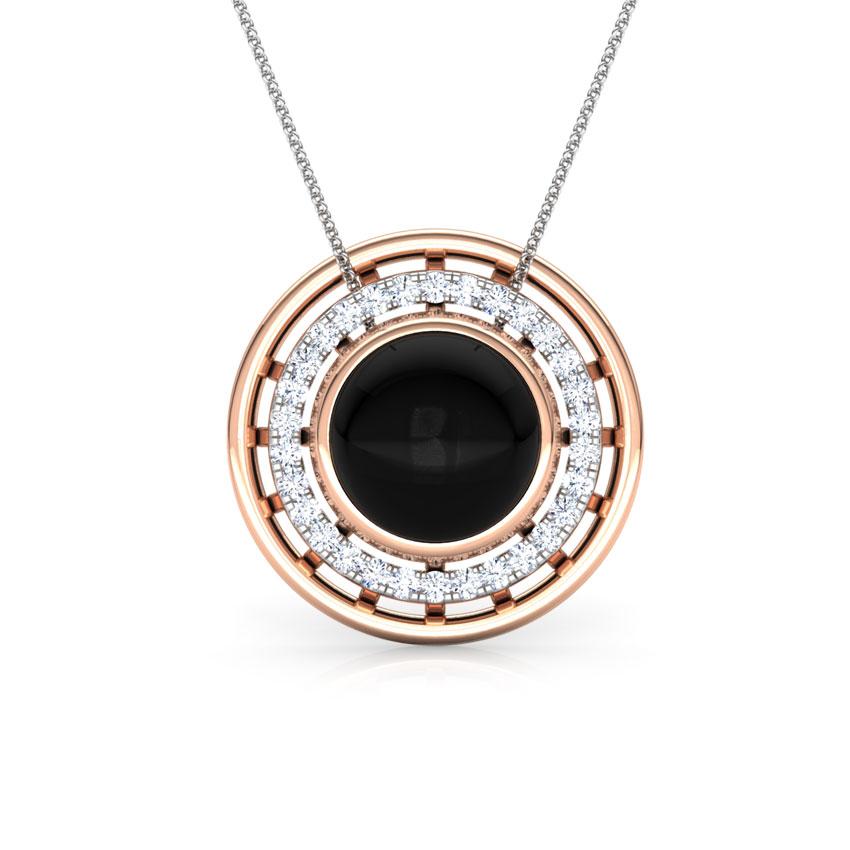 Diamond,Gemstone Pendants 18 Karat Rose Gold Eros Minaret Gemstone Pendant