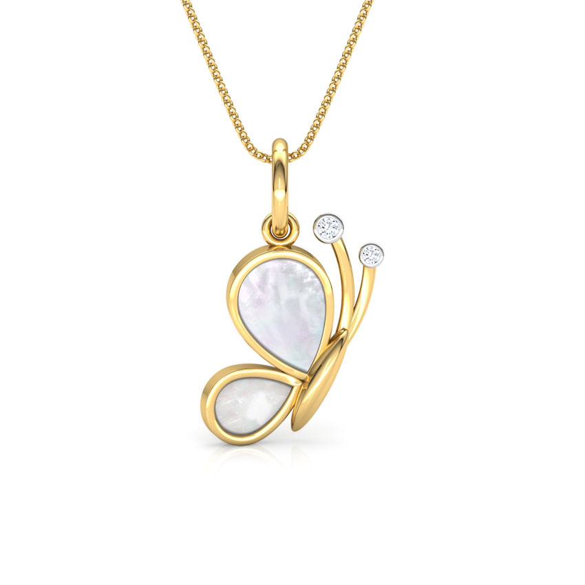 Butterfly Mother of Pearl Kids' Pendant