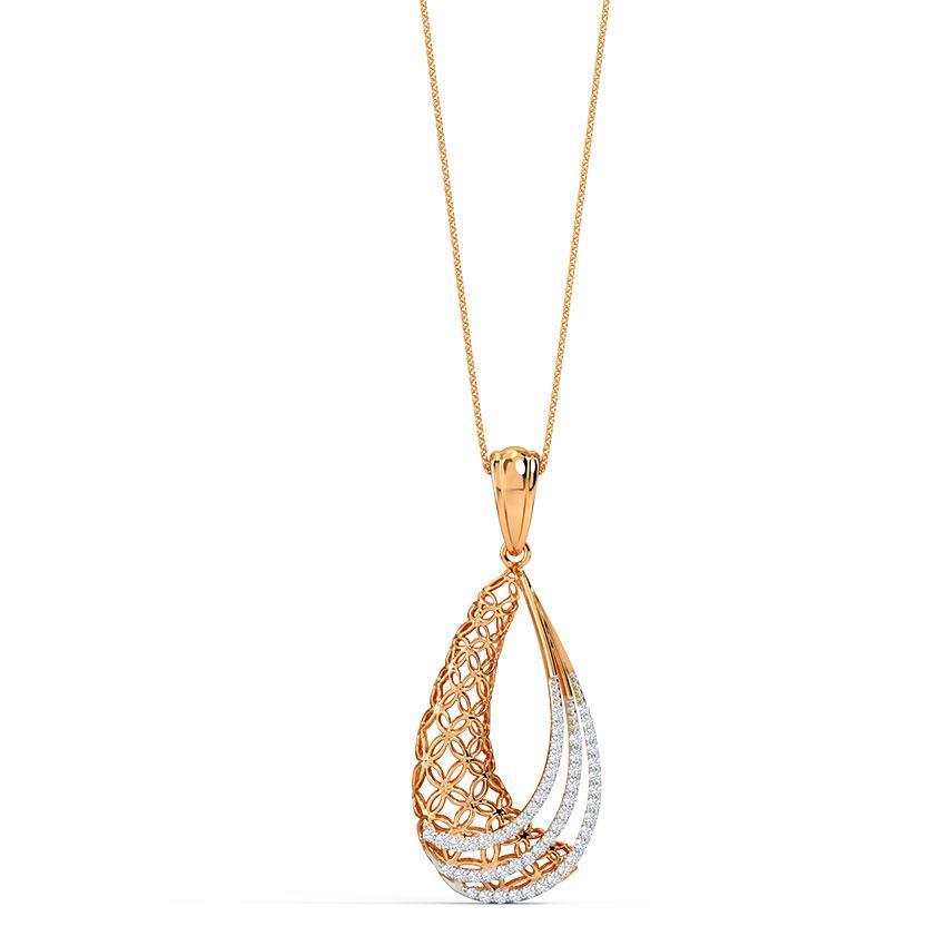 Dina Trellis Diamond Pendant