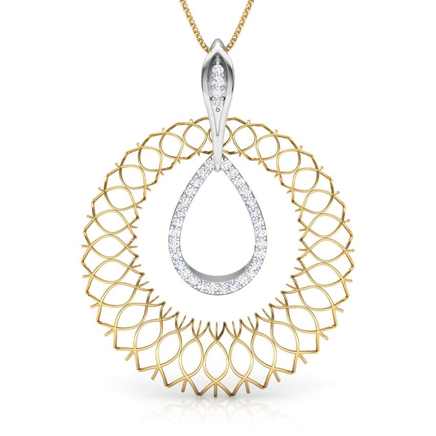 Agnes Trellis Diamond Pendant