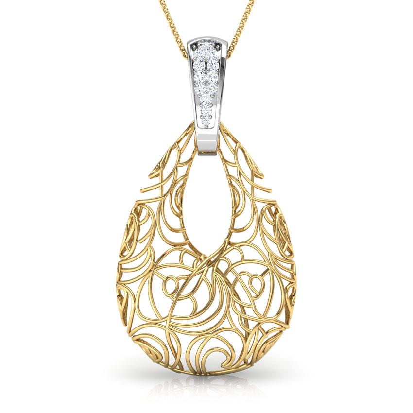 Aquila Trellis Diamond Pendant