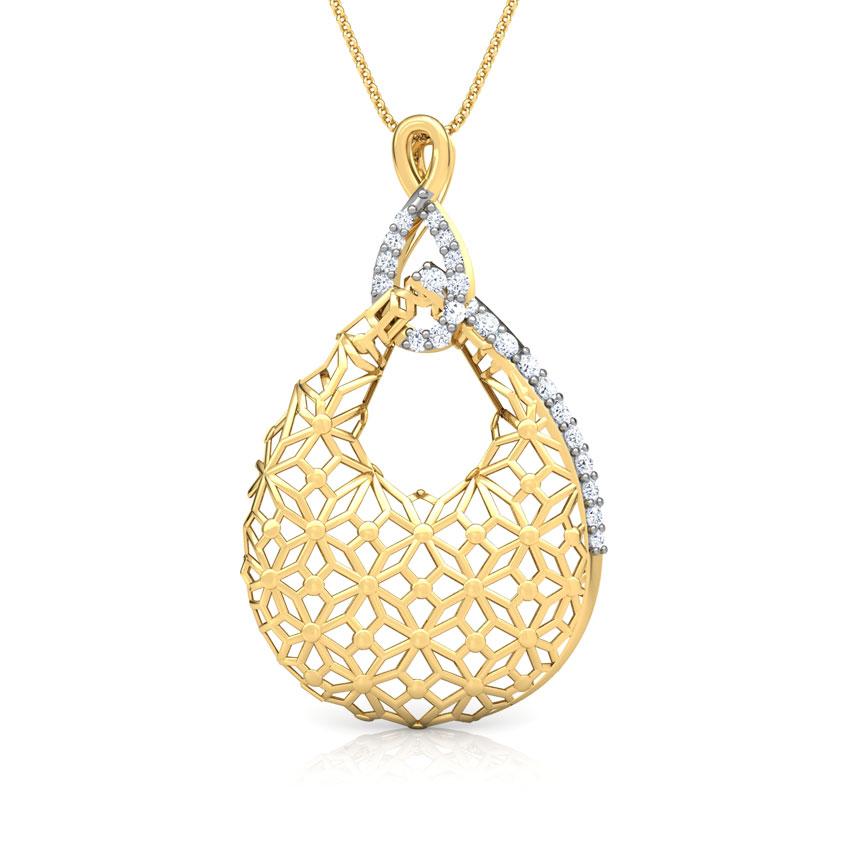 Kim Trellis Diamond Pendant