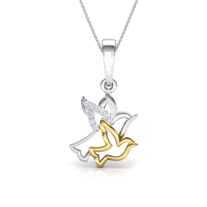 Dove Mother and Daughter Pendant