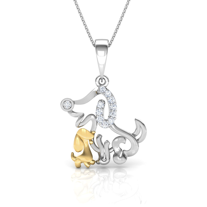 Pooch Mother and Daughter Pendant