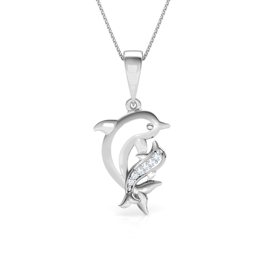 Dolphin Mother and Daughter Pendant