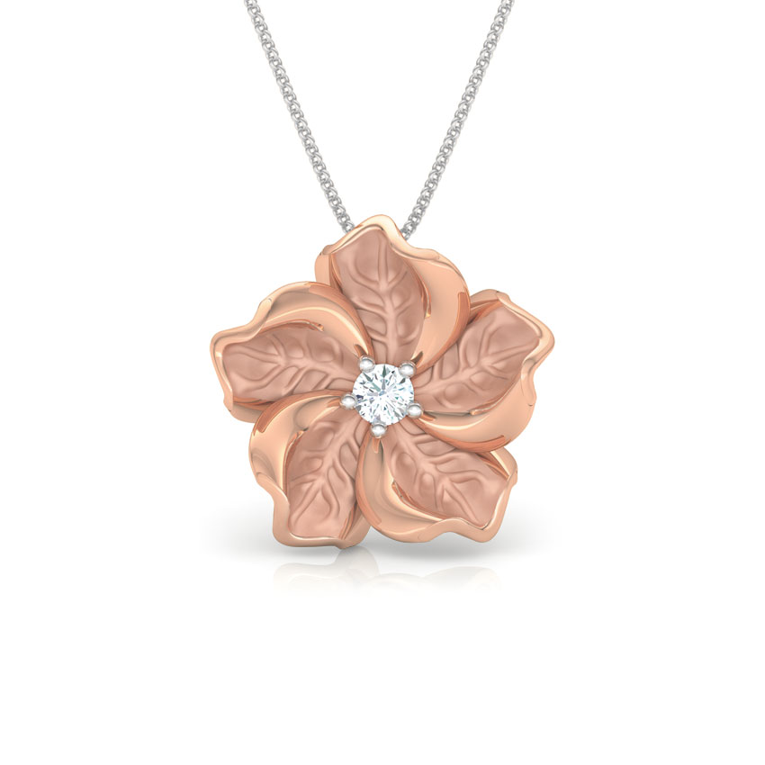 Diamond Pendants 18 Karat Rose Gold Rue Bloom Diamond Pendant