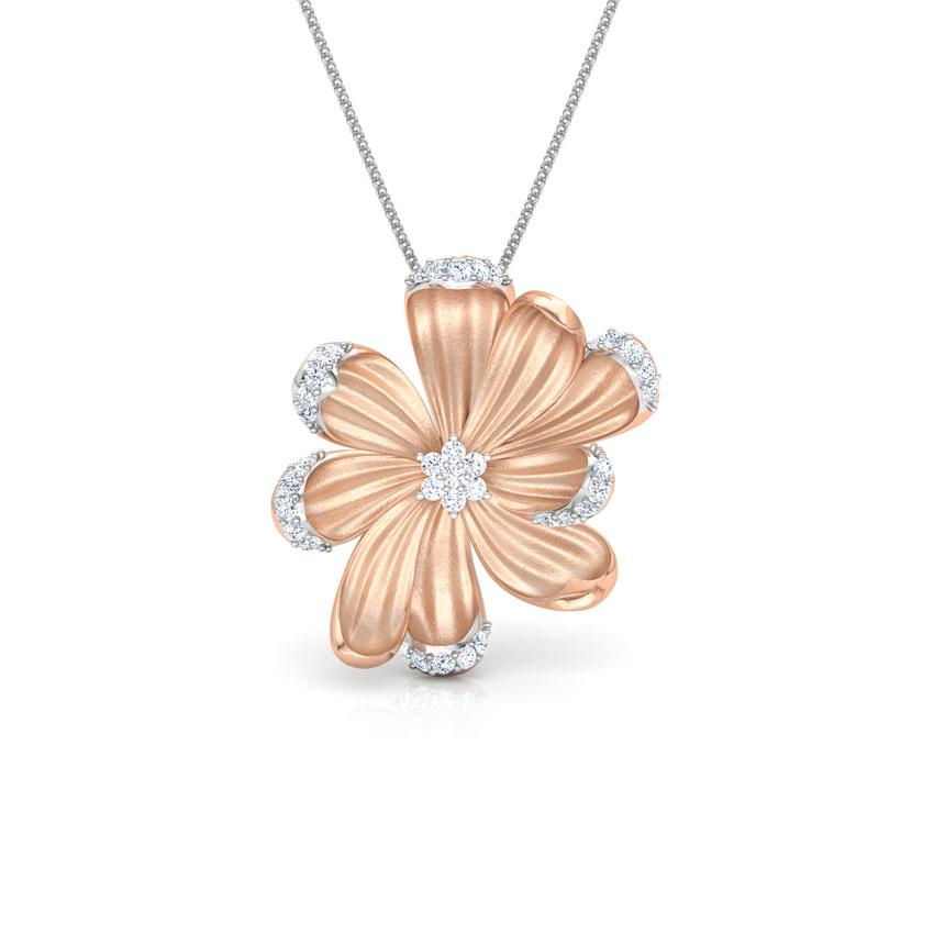 Diamond Pendants 18 Karat Rose Gold Azalea Diamond Bloom Pendant