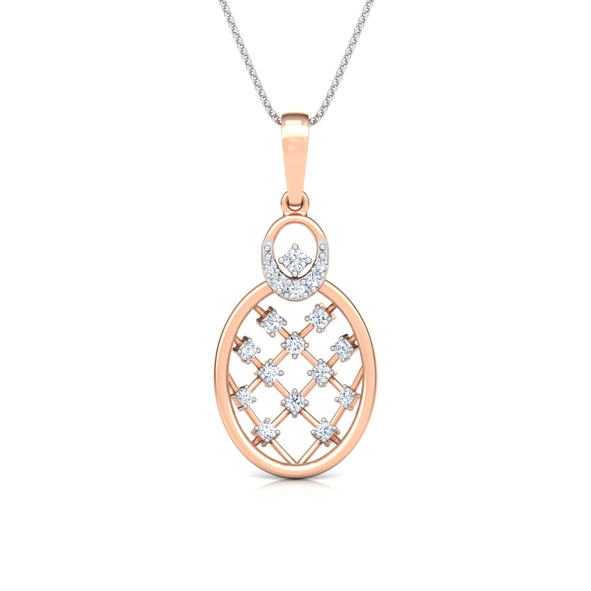 Lattice Diamond Pendant