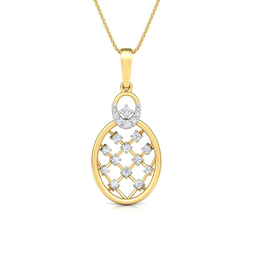 Lattice Diamond Pendant