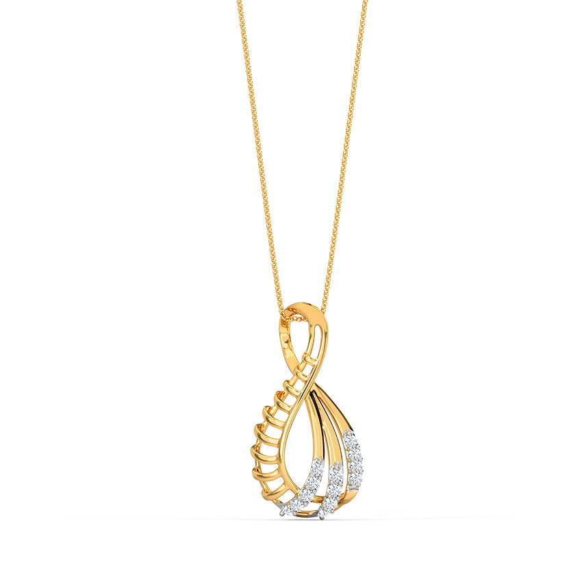 Swerve Diamond Pendant