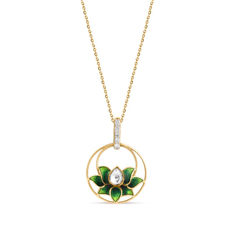 Graceful Bilor Lotus Pendant