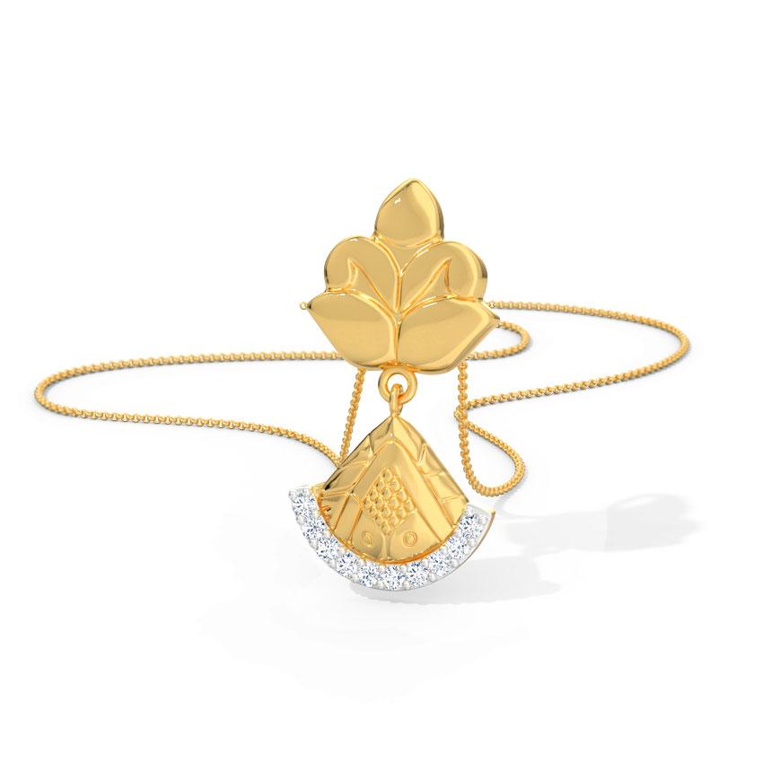 Diamond Pendants 18 Karat Yellow Gold Aadhya Diamond Pendant
