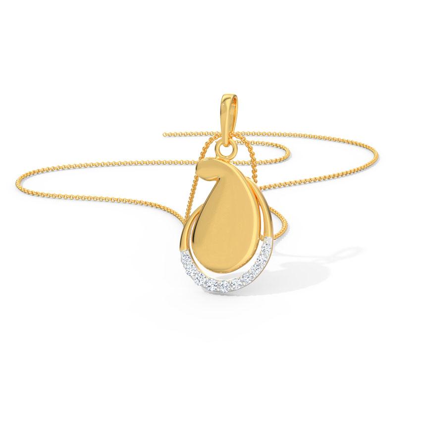 Diamond Pendants 18 Karat Yellow Gold Navya Diamond Pendant