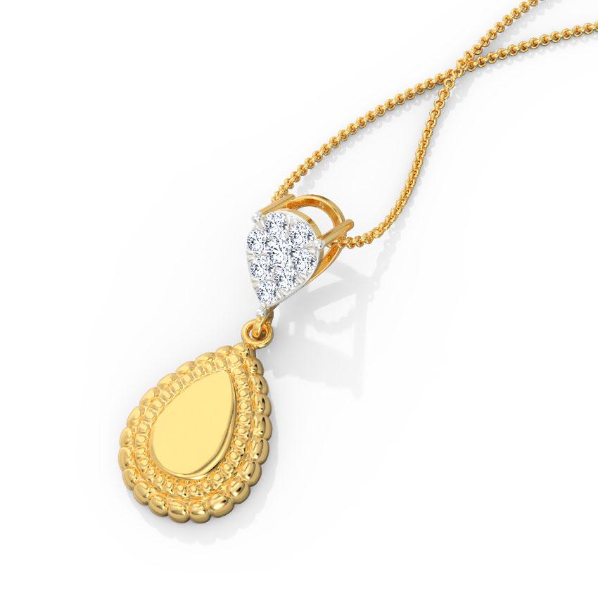 Diamond Pendants 18 Karat Yellow Gold Adweta Diamond Pendant