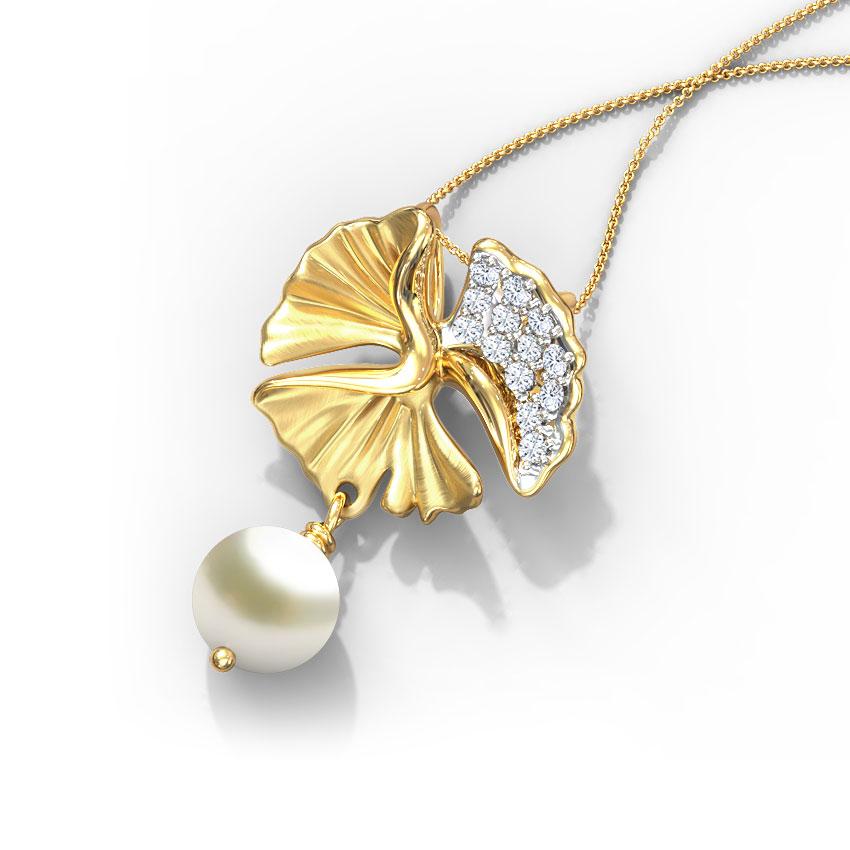 Exquisite Ginkgo Pearl Pendant