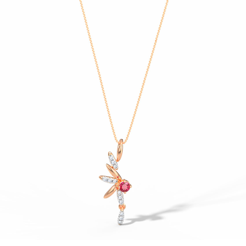 Diamond,Gemstone Pendants 14 Karat Rose Gold Alycia Pendant