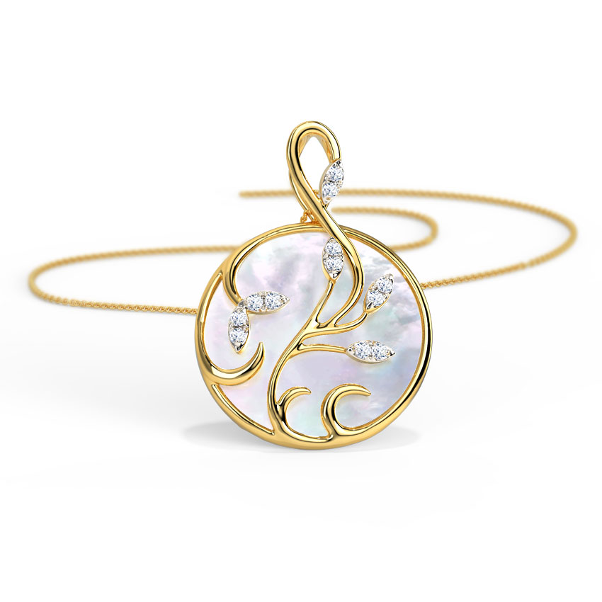 Whirl Mother of Pearl Pendant