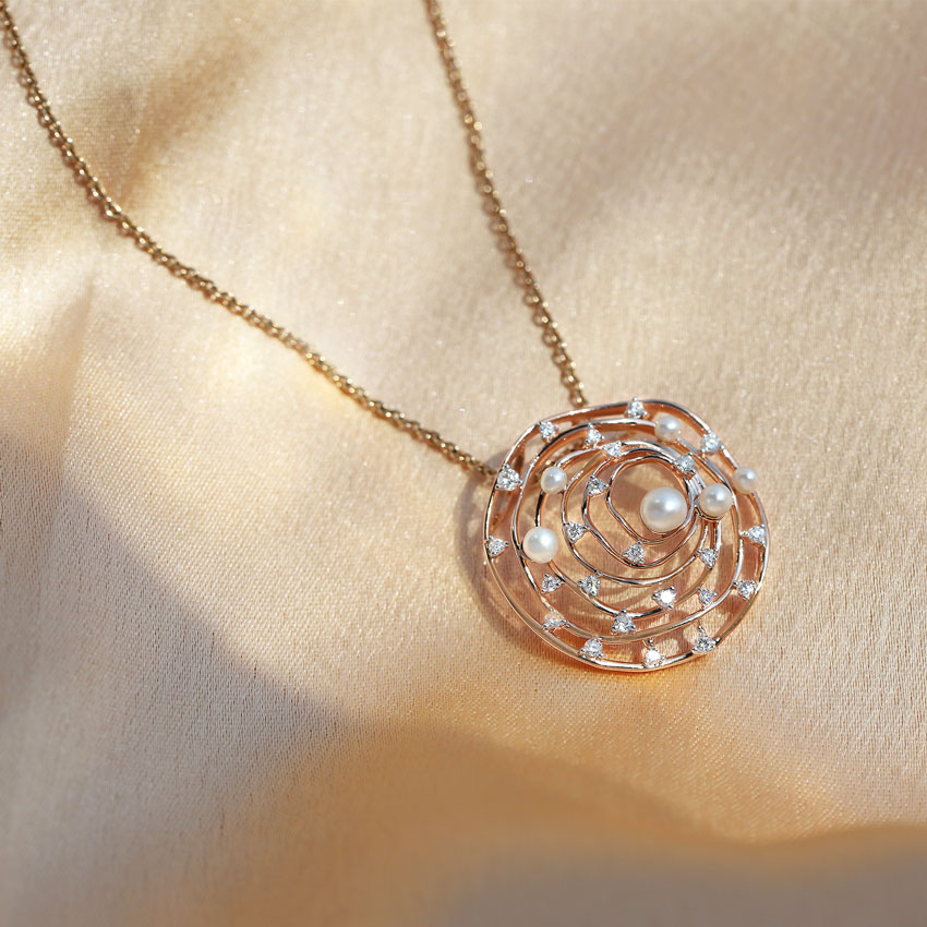 Concentric Pearled Pendant