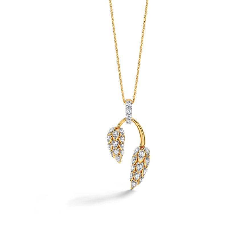 Diamond Pendants 18 Karat Yellow Gold Sunshine Diamond Pendant