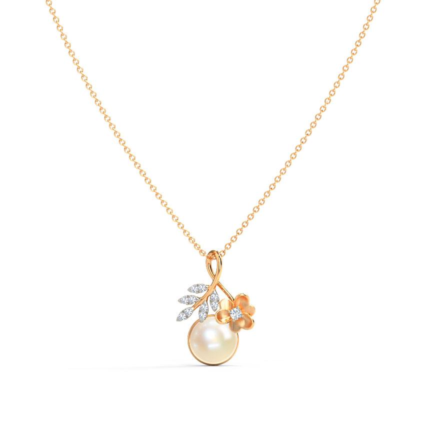 Diamond,Gemstone Pendants 14 Karat Rose Gold Viola Twist Gemstone Pendant