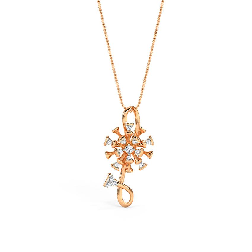 Diamond Pendants 14 Karat Rose Gold Eirlys Diamond Pendant