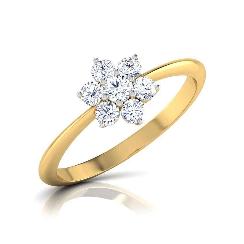 Diamond Rings 18 Karat Yellow Gold Classic 7-Stone Diamond Ring