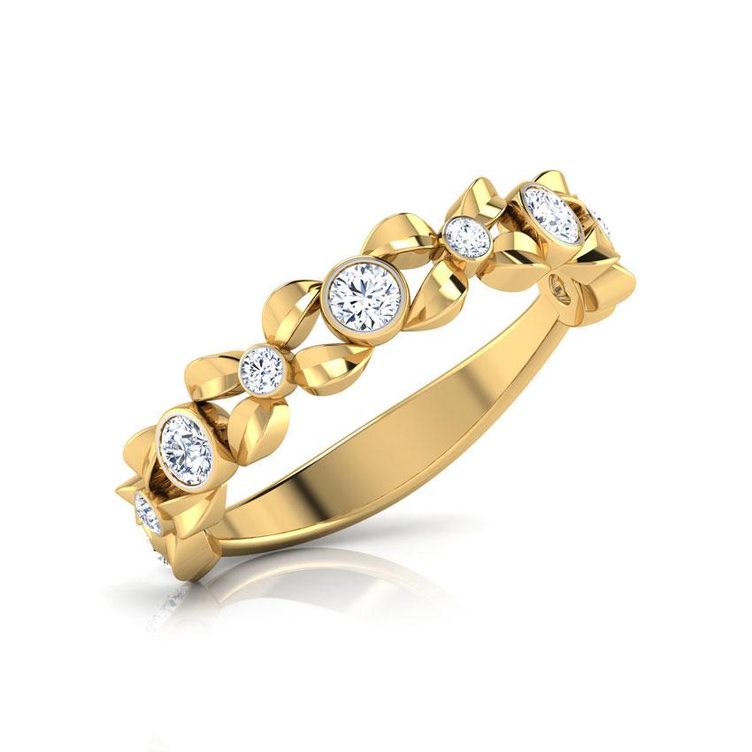 Diamond Rings 18 Karat Yellow Gold Forever Diamond Ring