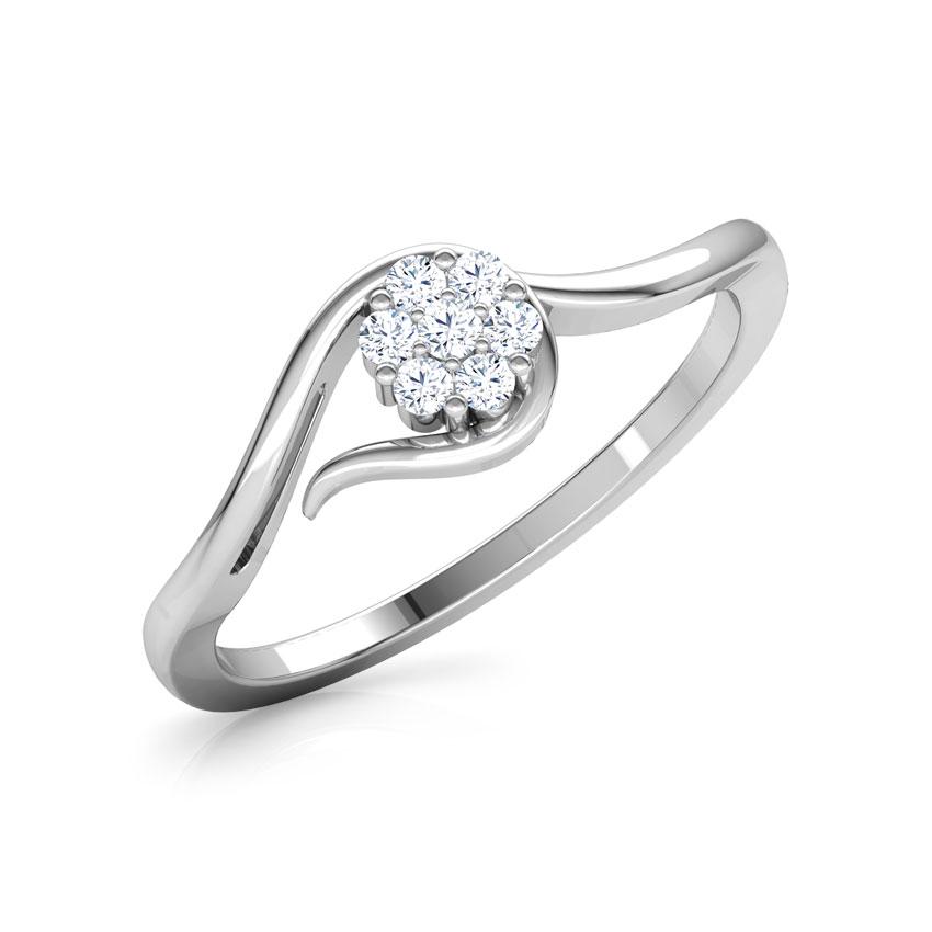 Embraced Flower Diamond Ring