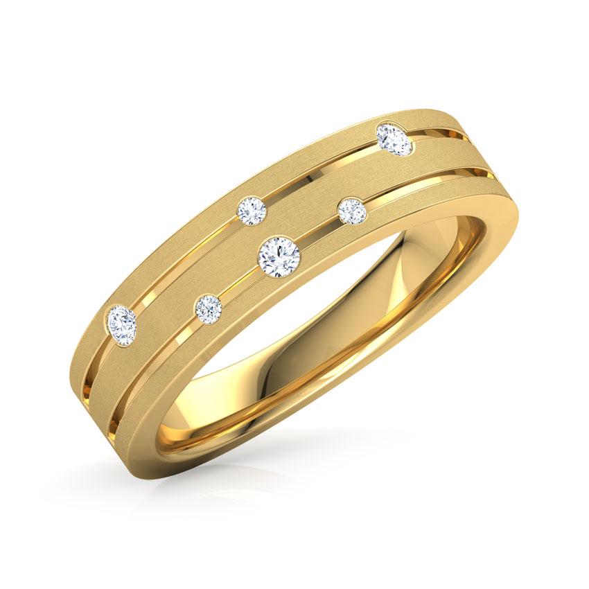 Diamond Rings 18 Karat Yellow Gold Spiral Constellation Diamond Ring