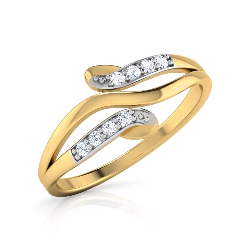 Diamond Rings 14 Karat Yellow Gold Enigma Whorl Diamond Ring