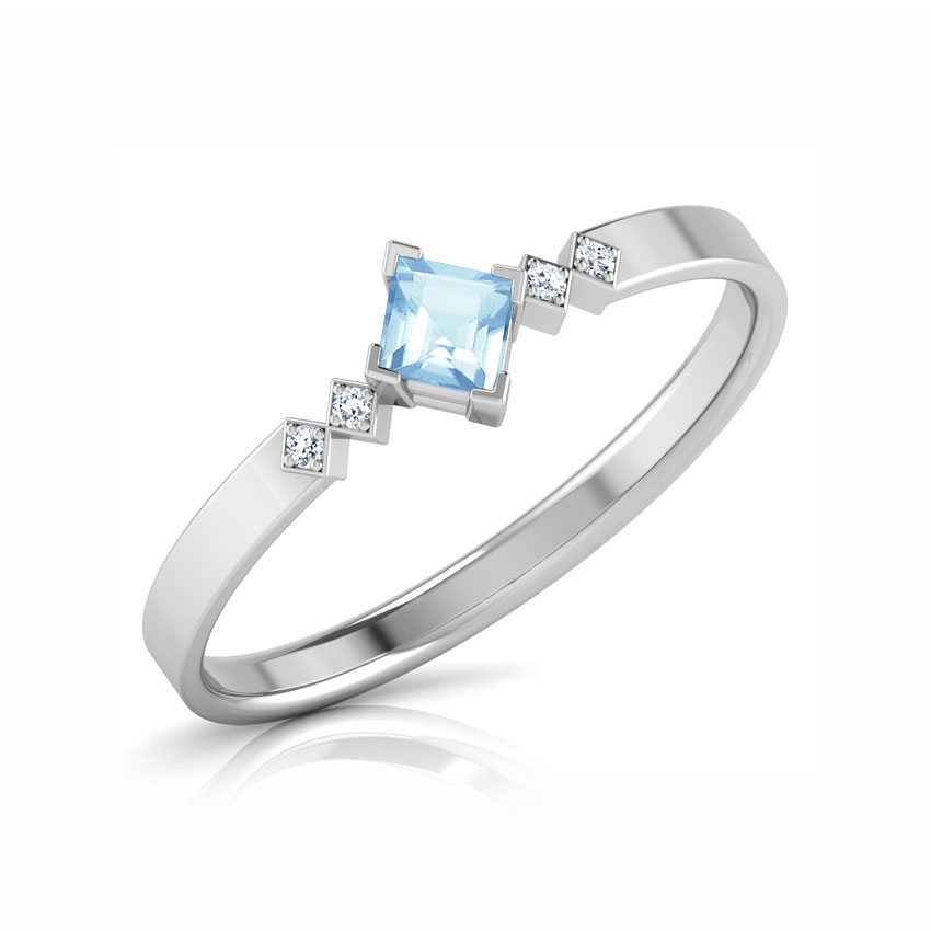 Diamond,Gemstone Rings 14 Karat White Gold Twilight Star Diamond Ring