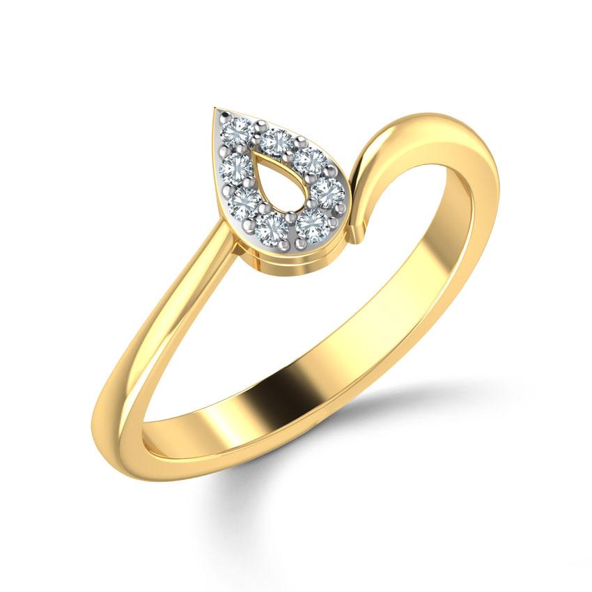 Diamond Pear Ring