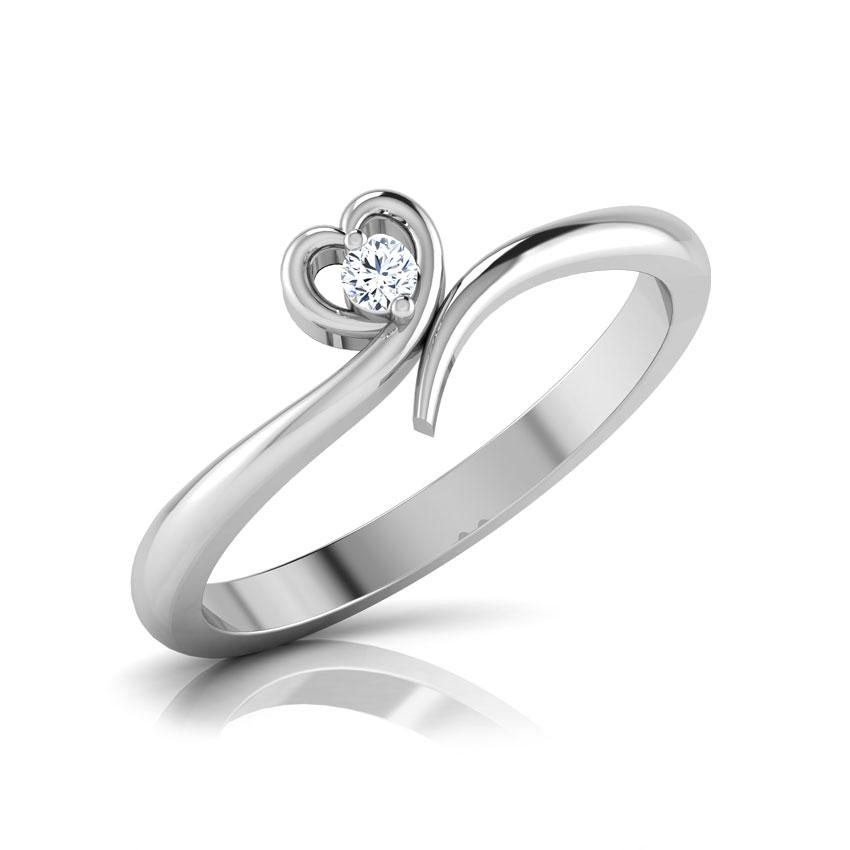 Diamond Rings 18 Karat White Gold La Coeur Diamond Ring