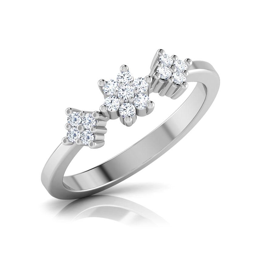 Diamond Rings 18 Karat White Gold Dazzle Burst Diamond Ring