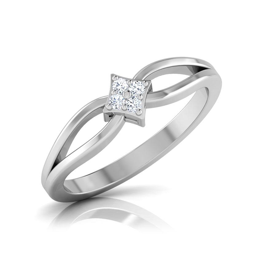 Diamond Rings 14 Karat White Gold Victoria Diamond Ring