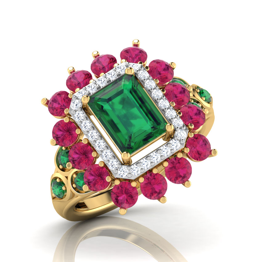 Diamond,Gemstone Rings 18 Karat Yellow Gold Zenia Diamond Ring
