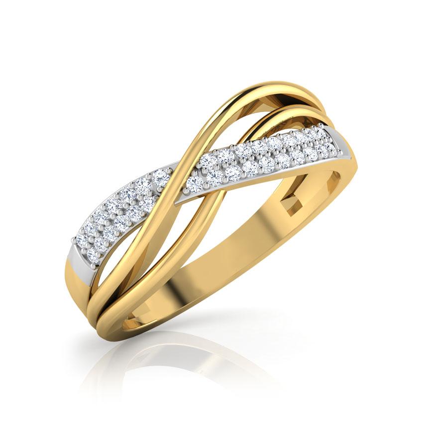 Diamond Rings 18 Karat Yellow Gold Enchanted Twist Diamond Ring