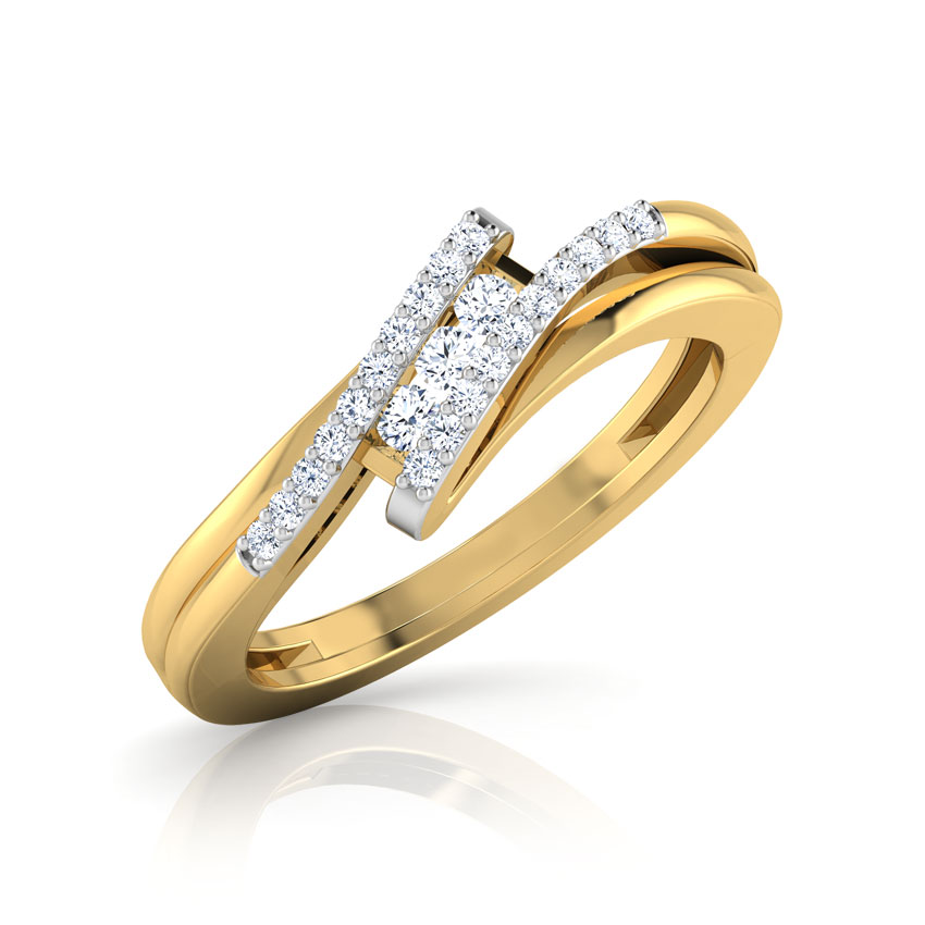Diamond Rings 18 Karat Yellow Gold Timeless Sparkle Diamond Ring
