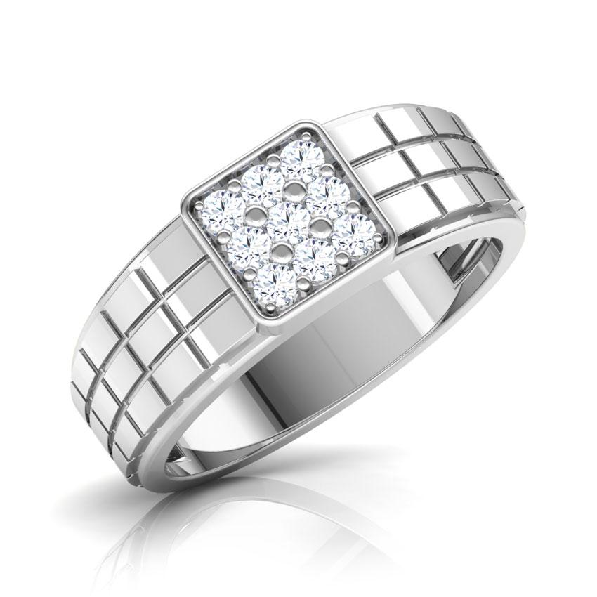 Diamond Rings 18 Karat White Gold Perseus Diamond Ring for Men