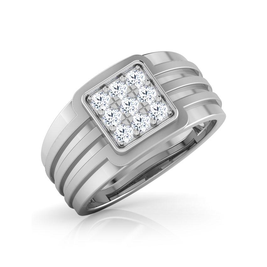 Diamond Rings 18 Karat White Gold Maceo Diamond Ring for Men