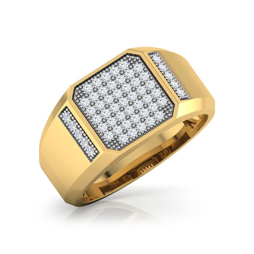 Diamond Rings 18 Karat Yellow Gold Carson Diamond Ring for Men