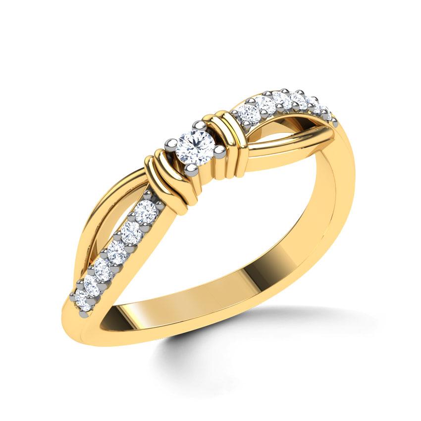 Diamond Rings 18 Karat Yellow Gold Phlox Diamond Ring