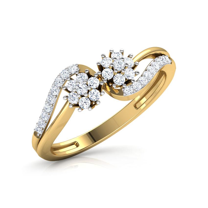 Diamond Rings 18 Karat Yellow Gold Cladis Soulmate Diamond Ring