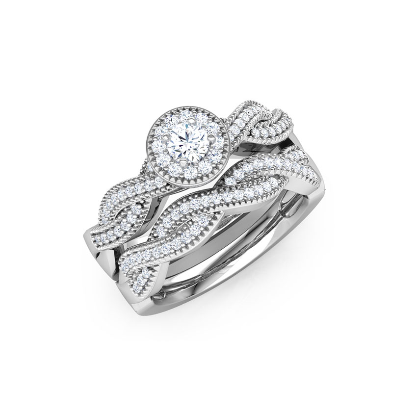 Luminous Solitaire Bridal Ring Set ...