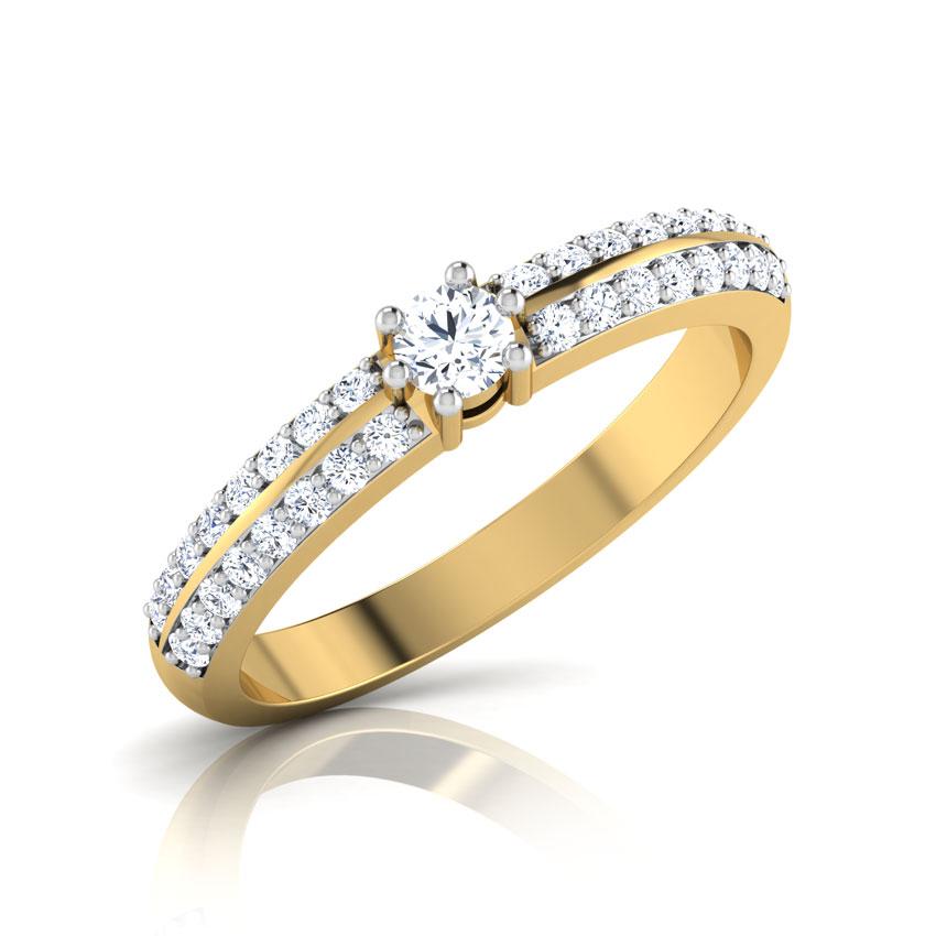 Diamond Rings 18 Karat Yellow Gold Ethereal Diamond Ring