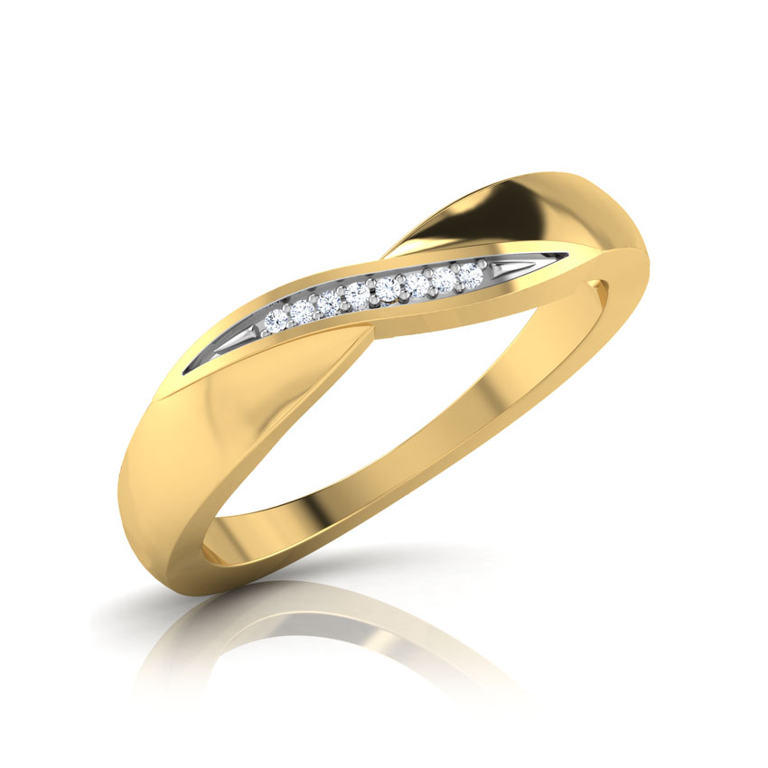 Diamond Rings 14 Karat Yellow Gold Karen Diamond Band