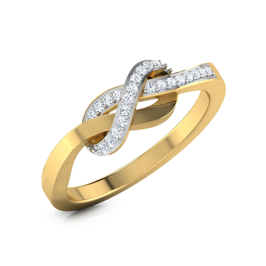 Diamond Rings 14 Karat Yellow Gold Kirah Infinity Diamond Ring